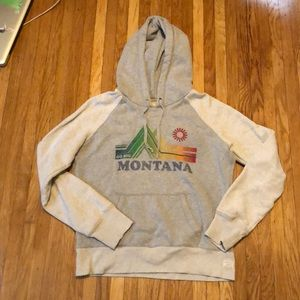 Gray American Eagle hooded sweatshirt